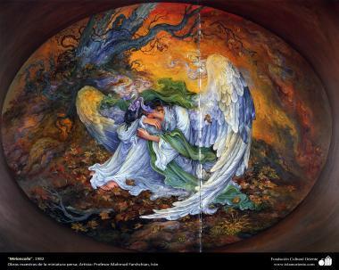 """""""Melancolía"""", 1982, Obras maestras de la miniatura persa; por Profesor Mahmud Farshchian"""