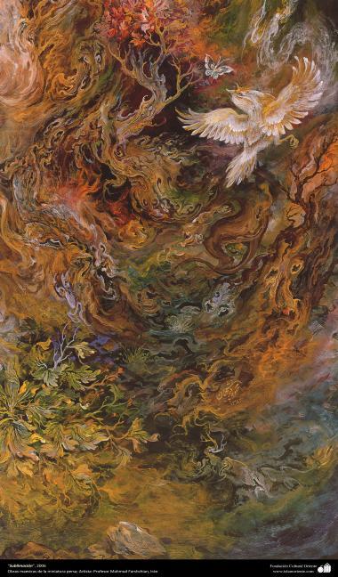 """""""Sublimação"""" 2006 - Obras primas da miniatura persa; M. Farshchian"""