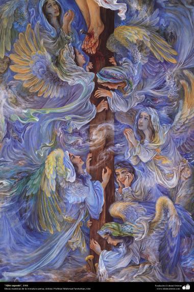 """Sacred Typhoon"" 2006 - Masterpieces of Persian miniature - By professor M. Farshchian"