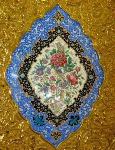 Architettura islamica-Vista di piastrella figurativa in Iraq