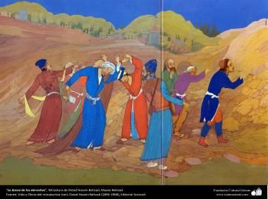 La danza de los derviches, Miniatura de Ostad Hosein Behzad, Museo Behzad - 186