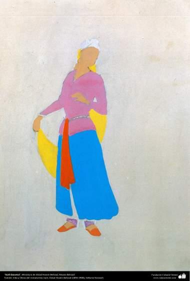 Sutil (boceto), Miniatura de Ostad Hosein Behzad, Museo Behzad -191