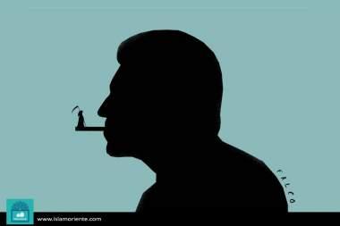 Вред сигареты (карикатура)