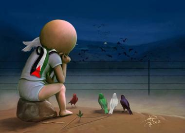 El sueño de los  niños palestinos (Caricatura)