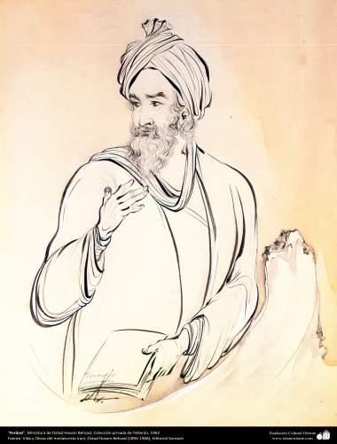 هنر اسلامی، شاهکار مینیاتور فارسی، فردوسی، اثر استاد حسین بهزاد، مجموعه خصوصی تهران، 1963-209
