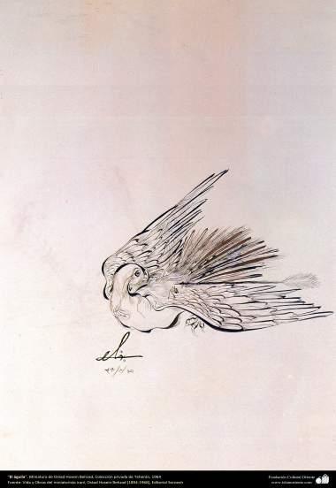 هنر اسلامی، شاهکار مینیاتور فارسی، عقاب، اثر استاد حسین بهزاد، مجموعه خصوصی، تهران،1964-211