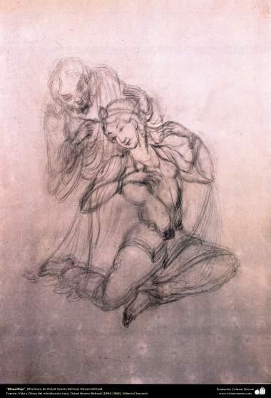 هنر اسلامی، شاهکار مینیاتور فارسی، آرایش، اثر استاد حسین بهزاد، موزۀ بهزاد – 213