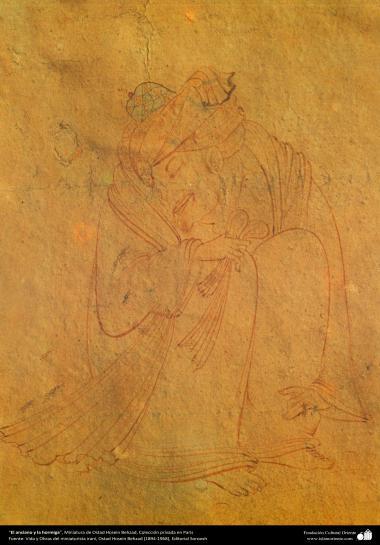 هنر اسلامی - شاهکار میناتور فارسی - استاد حسین بهزاد - پیرمرد و مورچه - ۸۹