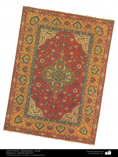 Art islamique - artisanat - art du tissage de tapis  - tapis persan- Kerman -Iran-XVI siècle (13)