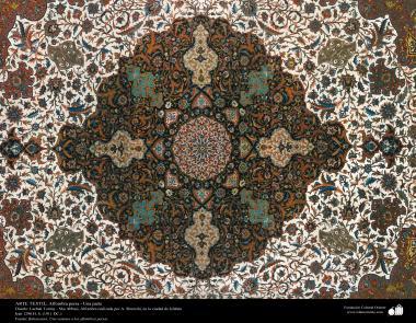 هنر اسلامی - صنایع دستی - هنر نساجی قالی -  قالیچه فارسی - اصفهان ، ایران در سال 1921 - 122