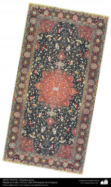 Alfombra persa - Datada en el año 1542 d.c.