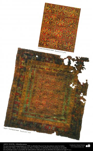 Persian Carpet - Pazyryk - woven in V century (b.C)