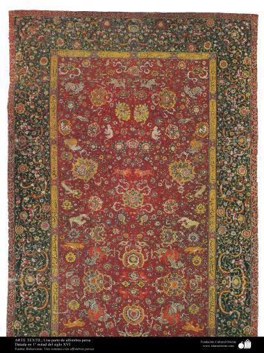 Alfombra persa - Una parte - datada en 1° mitad del siglo XVI - 278