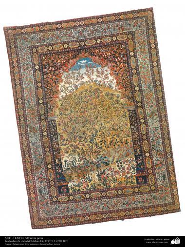 イスラム美術(ペルシャの織り物、カーペット、絨毯の芸術・工芸、1911年、イスファハン州)- 116