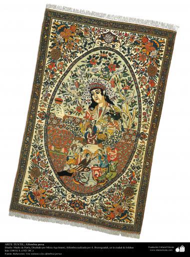 الفن الإسلامي - الحرف اليدوية - صناعة السجاد اليدوي الفارسی – اصفهان ، ایران فی السنة 1921 – 88