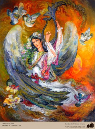Исламское искусство - Шедевр персидской миниатюры - Мастер Махмуда Фаршчияна - Рассвет