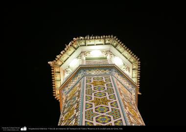 اسلامی معماری - شہر قم میں حضرت معصومہ (س) کے روضہ کا مینارہ اور اس پر کاشی کاری کا فن - ۱۲