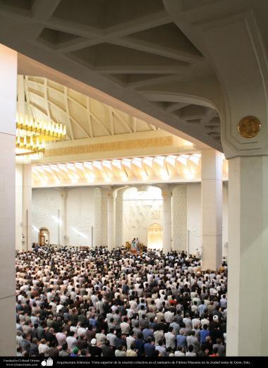 Arquitectura Islámica- Vista superior de la oración colectiva en el santuario de Fátima Masuma en la ciudad santa de Qom, Irán (12)