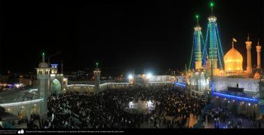 Architettura islamica-Una vista di una cerimonia religiosa nel santuario di Fatima Masuma-Città santa di Qom-23