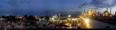 Art islamique, une vue de la coupole du sanctuaire de la dame Fatima Masouma dans la ville sainte de Qom - 8