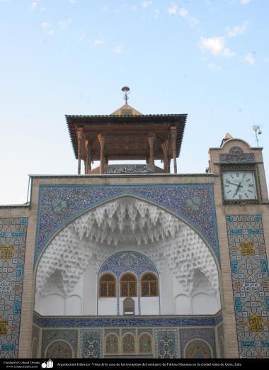 Arquitectura Islámica- Vista de la casa de las trompetas del santuario de Fátima Masuma en la ciudad santa de Qom - 6