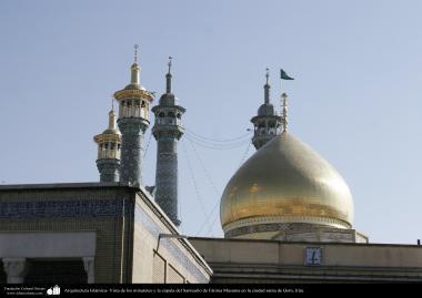 Arquitetura Islâmica - Vista dos minaretes e da cúpula do Santuário de Fátima Masuma (SA) na cidade Santa de Qom, Irã (4)