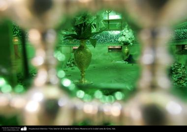 Arquitectura Islámica- Vista interior de la tumba de Fátima Masuma en la ciudad santa de Qom, Irán
