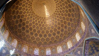 Arquitectura islámica- Vista interna de la cúpula de la mezquita Sheij Lotf Allah (o Lotfollah)-Isfahán- Irán (6)