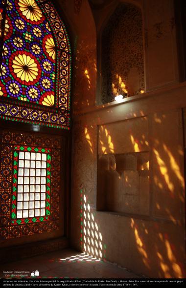 Architettura islamica-Vista della parte interna di Arg-e Karim Khan Zand-Shiraz-Costrita come una sezione di un complesso