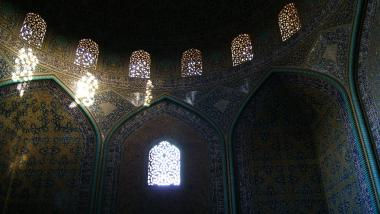 Arquitectura islámica- Vista interna de la cúpula de la mezquita Sheij Lotf Allah (o Lotfollah)-Isfahán- Irán (4)