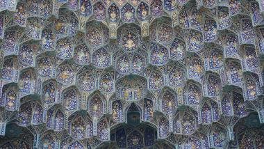Arquitectura islámica- Vista interna de la cúpula de la mezquita Sheij Lotf Allah (o Lotfollah)-Isfahán- Irán (8)