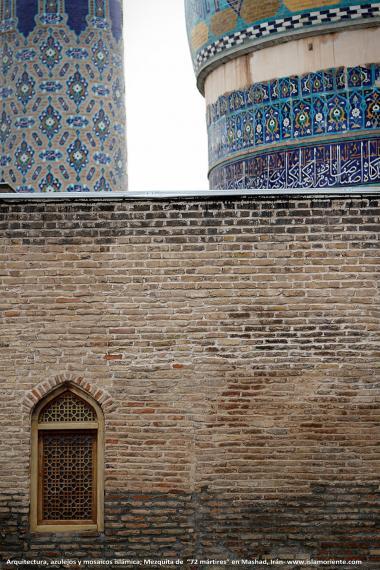 architechture, enamel and Islamic mosaics, 72 Shuhada (martyrs)Mosque in the Holy city of Mashhad - Iran - 58