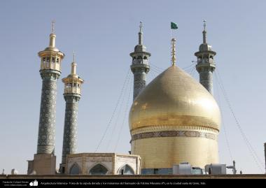 Arquitectura Islámica- Vista de la cúpula dorada y los minaretes del Santuario de Fátima Masuma (P), en la ciudad santa de Qom - 76