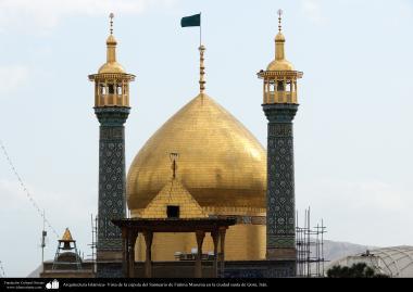 Arquitectura Islámica- Vista de la cúpula del santuario de Fátima Masuma en la santa ciudad de Qom - 118