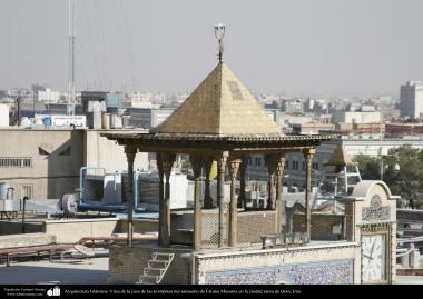 Vista de la casa de las trompetas del santuario de Fátima Masuma en la ciudad santa de Qom - 73