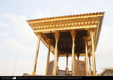 Arquitectura Islámica- Vista de la casa de las trompetas en el Santuario de Fátima Masuma en la ciudad santa de Qom - 115