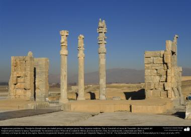 Доисламская персидская архитектура - Иранское искусство - Персеполис или Тахте-Джамшид ( трон Джамшида ) - Шираз - 24