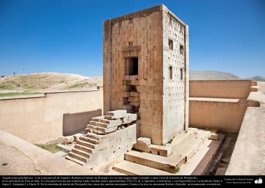 Arquitectura Preislámica - Vista parcial de Naqsh-e Rostam (el retrato de Rostam). Cerca de Persépol, Fars-Shiraz en Irán - 34