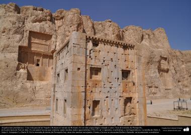 Preislamic Arquitechture - Partial View of Naqsh-e Rostam (Rostam's portrait), near Persepolis, Fars - Shiraz - 8