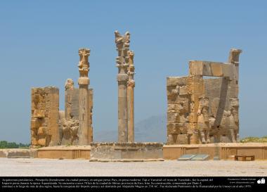 Доисламская персидская архитектура - Иранское искусство - Персеполис или Тахте-Джамшид ( трон Джамшида ) - Шираз - 22