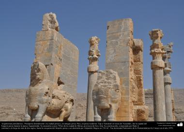 "Persian Preislamic Architecture - Persepolis, or Paras or Takht-e Jamshid 'the throne of Jamshid ""near Shiraz - 33"