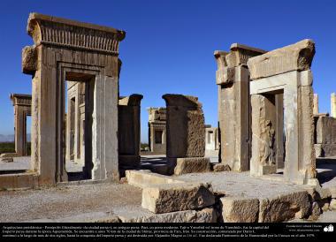 """اسلام سے پہلے کی ایرانی معماری - شیراز کے شہر میں  """"تخت جمشید"""" نام کی پرانی عمارت """"پرسپولیس"""" علاقے میں - ۱۳"""