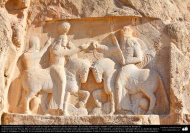 Arquitectura Preislámica - Vista parcial de Naqsh-e Rostam (el retrato de Rostam). Cerca de Persépol, Fars-Shiraz en Irán - 44