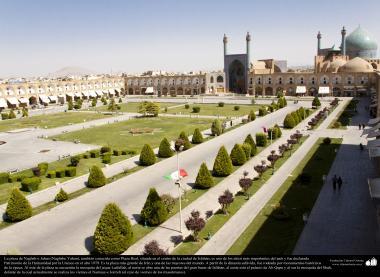 """سلامی فن تعمیر - شہر اصفہان میں """"نقش جہان"""" نام کا میدان جو یونیسکو عالمی تنظیم میں عالمی آثار قدیمہ کے نام سے رجیسٹرڈ ہے ، ایران - ۳۳"""