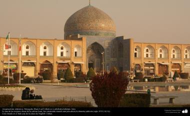 Islamische Architektur - äußere Aussicht der Keramik von Sheikh Lotf Al-lah's Moschee (oderr Lotfollah) -Isfahan - 3 - Die Stadt Isfahan - Iran