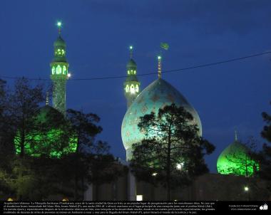 المعمارية الإسلامية - المنظر من القبة المسجد المقدس جمکران في مدينة قم المقدسة، إيران - 131