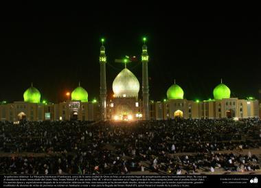 Исламская архитектура - Фасад купола и большой площади мечети Джамкарана - Кум - 129