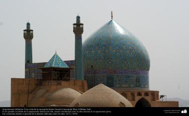 Arquitectura islámica- Una vista de la mezquita Imam Jomeini (mezquita Sha) -Isfahán- Irán-1