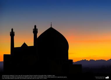 Arquitectura islámica- Una vista de la mezquita Imam Jomeini (mezquita Sha) -Isfahán- Irán-6