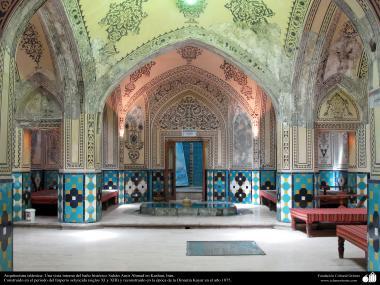 Arquitectura islámica- Una vista interna del baño histórico Sultán Amir Ahmad en Kashan, Irán - 104